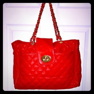 Red quilted Aldo purse